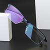 半框近视眼镜男小脸轻巧变色防紫外线太阳墨镜片配有度数眼睛架框
