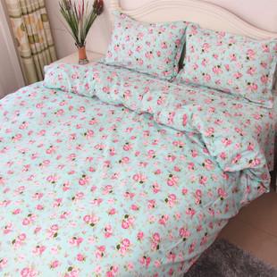 纯棉床单单件全棉碎花斜纹印花学生单双人1.5m被套1.8米床秋