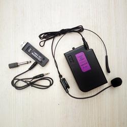 音響萬能無線腰挂頭戴式耳麥話筒音箱通用USB接收器K歌神器領夾胸