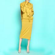 春的星期三~春秋三件套加厚针织通勤OL复古风套装套裙
