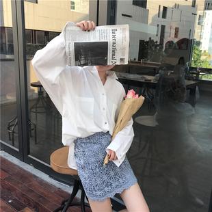 港味复古韩国chic风宽松复古银色钉扣上衣百搭睡衣领蝙蝠袖衬衫女