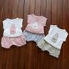 女宝宝男童夏装短袖套装0-1-2-3岁4婴儿童装9纯棉衣服6-8-12个月5