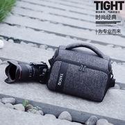 单反摄影包单肩相机包便携尼康佳能索尼男女微单80D 100D 750D M6