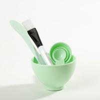 美容院做面膜碗工具套装4件套脸部调面膜碗计量勺水疗小碗非硅胶