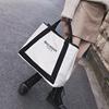 大包包2019女包欧美时尚帆布包潮字母单肩包大容量斜挎手提包