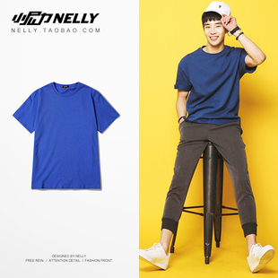 ulzzang复古潮牌短袖T恤2019夏季纯色透气短袖t恤男女半袖
