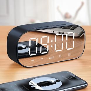 渥赢 H8无线蓝牙音箱家用超重低音炮手机户外迷你闹钟蓝牙小音响随身便携式小型3D环绕大音量