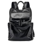 大学生双肩包男真皮大容量笔记本电脑商务旅行书包背包潮