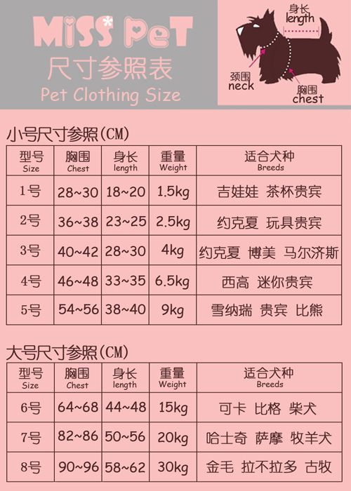 MissPet Spring and summer MISS PET Koshiro point Teddy Teddy vest vest pet clothes pet clothes